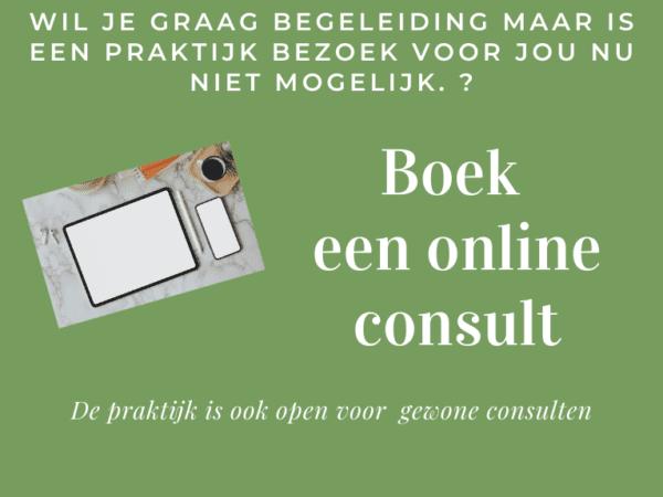 Online consult ook mogelijk